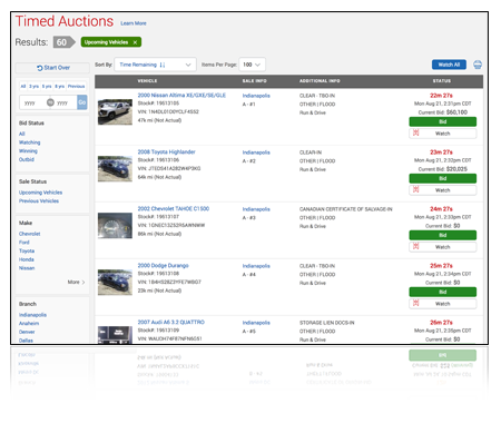 Timed Auctions | IAA-Insurance Auto Auctions